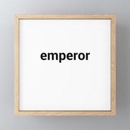 emperor Framed Mini Art Print