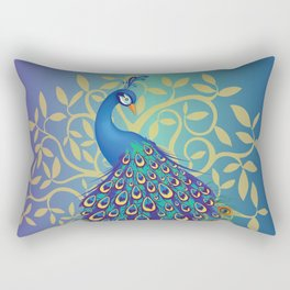 Peacock In A Tree Rectangular Pillow