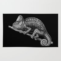 chameleon Area & Throw Rugs featuring Chameleon by Tim Jeffs Art
