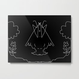 Monster By Night Metal Print
