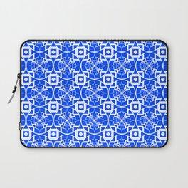 Convergence Pattern - Blue on White Laptop Sleeve
