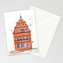 whimsical house in Germany Stationery Cards