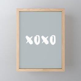 xoxo - hugs and kisses Framed Mini Art Print