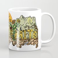 yosemite Mugs featuring Yosemite  by Geryes