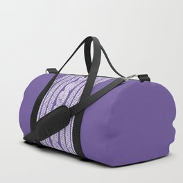 Cable Stripe Violet Duffle Bag