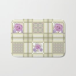 Olive green cage and roses. Bath Mat