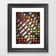 Breakout Pattern Framed Art Print