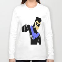 nightwing Long Sleeve T-shirts featuring Nightwing by LouisaD