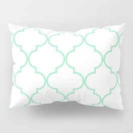 Quatrefoil - Mint Green Pillow Sham