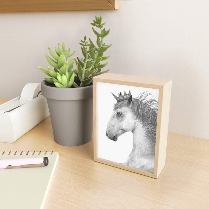 King horse Framed Mini Art Print