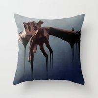hands Throw Pillows featuring Hands by Jyri Straechav