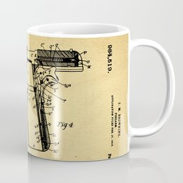 Browning Firearm Support Patent Drawing From 1911 Coffee Mug