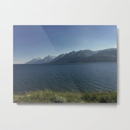 Grand Teton National Park, Wyoming From Across Jackson Lake Metal Print
