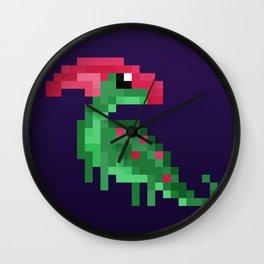 Pixel Parasaurolophus Wall Clock