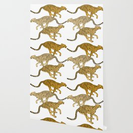 Go Cheetahs Go Pen and Ink by Lorloves Design Wallpaper