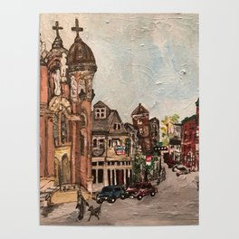 """""""Little Italy, Cleveland""""  Ohio Painting Poster"""