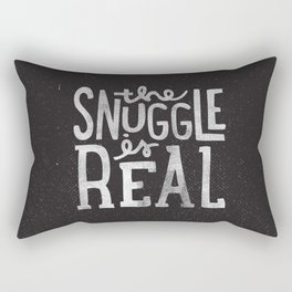 Snuggle is real - black Rectangular Pillow