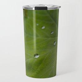 Water on Leaf Travel Mug