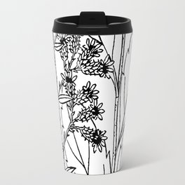 Botanical Scientific Illustration Black and White Travel Mug