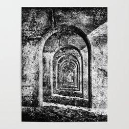 Monochrome Arches Poster