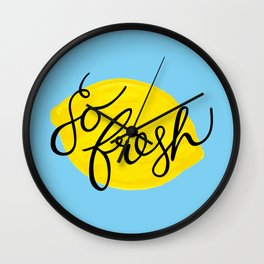 Lemony Fresh Wall Clock