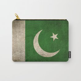 Old and Worn Distressed Vintage Flag of Pakistan Carry-All Pouch