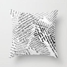 Newsprint Throw Pillow