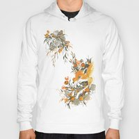 japanese Hoodies featuring fox in foliage by Teagan White