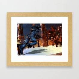 battle Framed Art Print