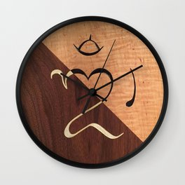 Balinese Om Wall Clock