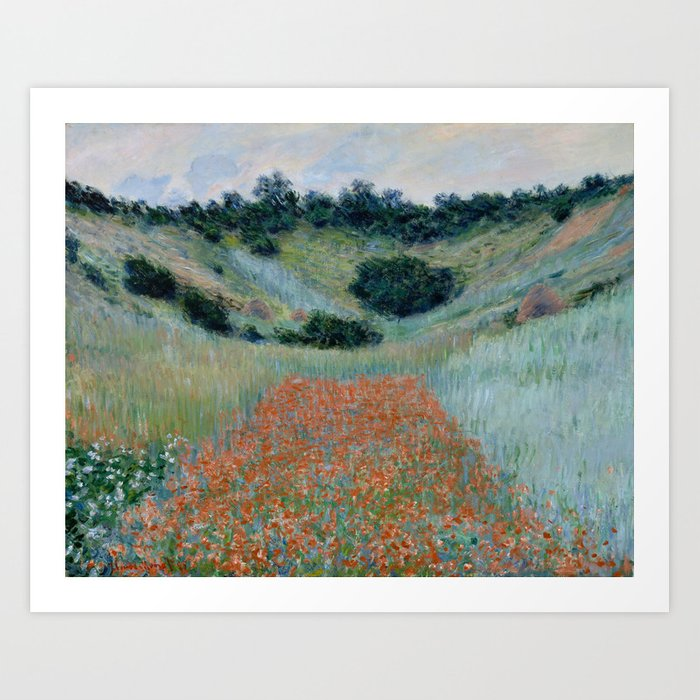 "Claude Monet ""Poppy Field in a Hollow near Giverny"" Kunstdrucke"