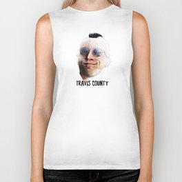 Travis County - Austin (featuring Travis Bickle from Taxi Driver) Biker Tank