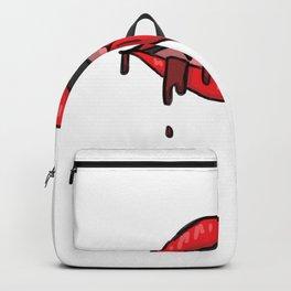 Vampire Lipstick Anticipation Art Backpack