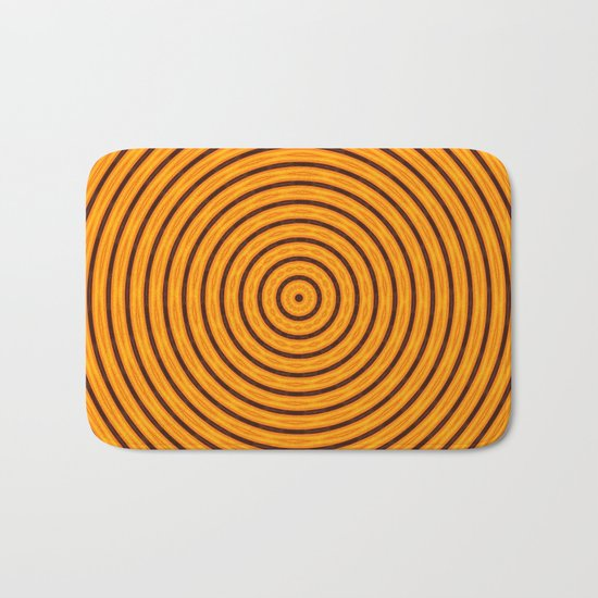 Circles within - Orange Bath Mat