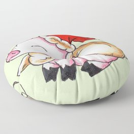 Santa Piggy Floor Pillow