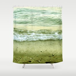 surf lace: gold variations Shower Curtain