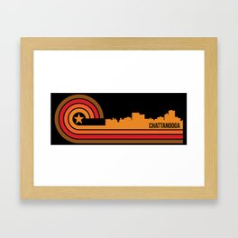 Retro Chattanooga Tennessee Skyline Framed Art Print