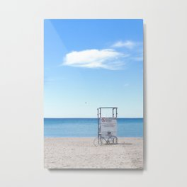 BIKE AT SUMMER BEACH Metal Print