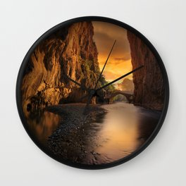 Sunrise in the Valley Photographic Landscape Wall Clock