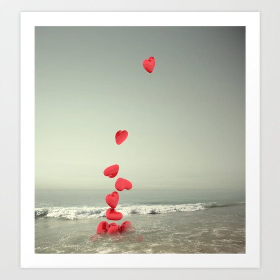 the love towards the sea Art Print