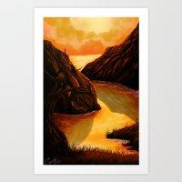 Sunset Bend Art Print