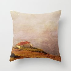 Living on the edge Throw Pillow