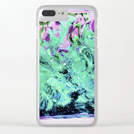 430 - Abstract glass design Clear iPhone Case