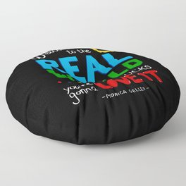 Welcome to the Real World Floor Pillow