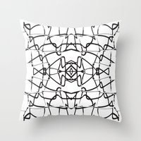 the wire Throw Pillows featuring wire by kartalpaf