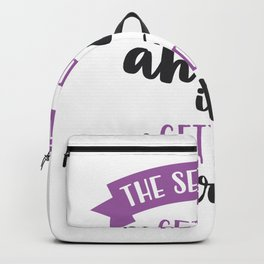 The Secret of Getting Ahead is Getting Started Backpack