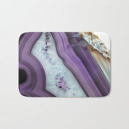 Purple Agate Slice Bath Mat