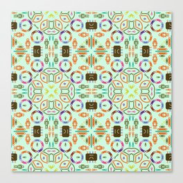 "Seamless pattern in the style of ""printed circuit board"" Canvas Print"