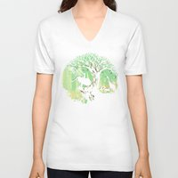 king V-neck T-shirts featuring The jungle says hello by Picomodi