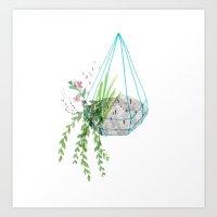 Hanging Basket Art Print